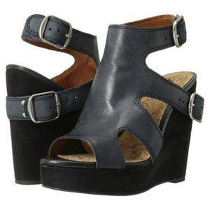 Lucky Brand Raaa Wedge Leather Suede Heel Sandal